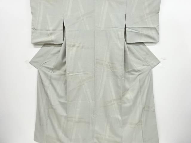 【IDnet】 変わり竹模様手織り節紬着物【リサイクル】【中古】【着】