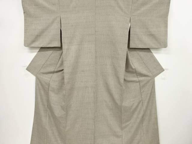 【IDnet】 変わり縞模様織り出し手織り節紬着物【リサイクル】【中古】【着】