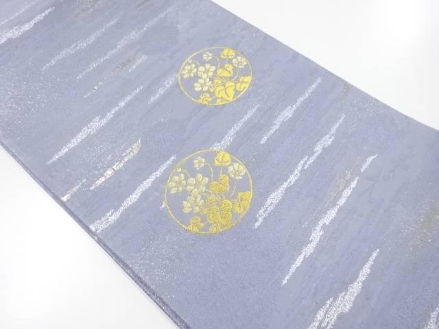 【IDnet】 未使用品 本金丸紋に三角草模様織出袋帯【リサイクル】【着】
