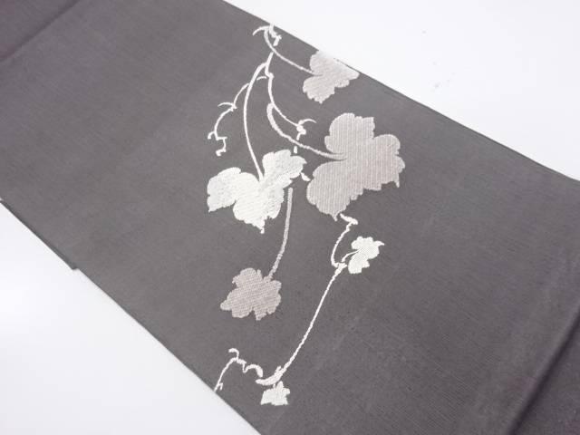 【IDnet】 未使用品 蔦の葉模様織出し夏用袋帯【リサイクル】【着】