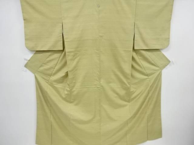 【IDnet】 手織り真綿紬一つ紋着物【リサイクル】【中古】【着】