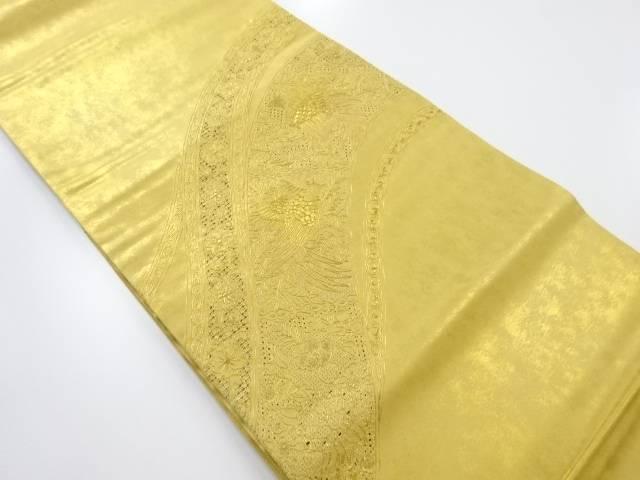 【IDnet】 本金箔汕頭蘇州刺繍花鳥模様袋帯【リサイクル】【中古】【着】