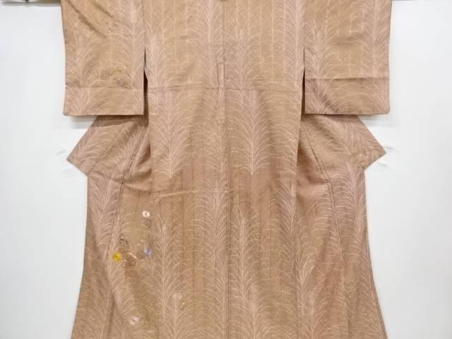 【IDnet】 金彩菊に松鶴模様刺繍訪問着【リサイクル】【中古】【着】