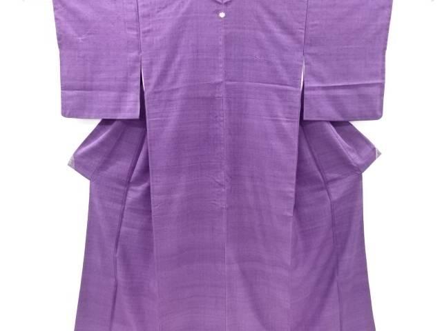 【IDnet】 一つ紋手織り真綿紬着物【リサイクル】【中古】【着】