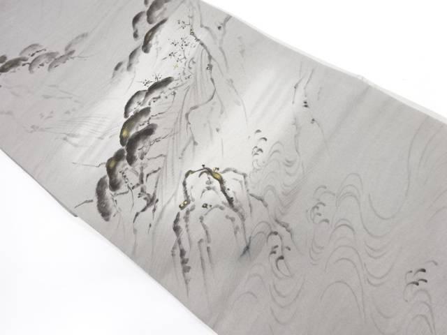 【IDnet】 流水に松・風景模様袋帯【リサイクル】【中古】【着】