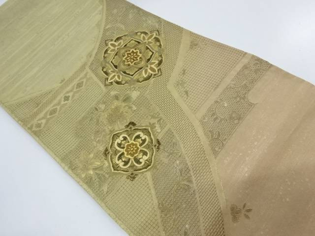 【IDnet】 汕頭蘇州刺繍華紋に花唐模様袋帯【リサイクル】【中古】【着】