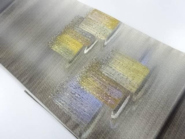【IDnet】 金彩手描き流水に抽象模様暈し袋帯【リサイクル】【中古】【着】