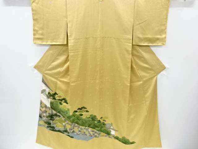 【IDnet】 未使用品 パッチワーク佐賀錦松に城壁模様刺繍三つ紋色留袖【リサイクル】【着】