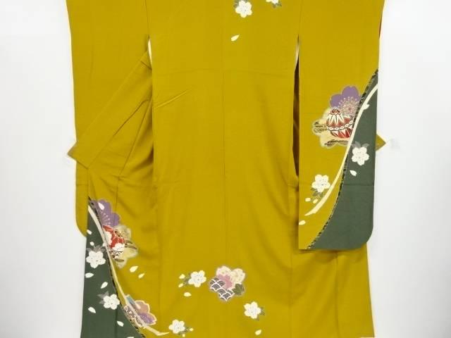 【IDnet】 金彩桜に毬模様振袖【リサイクル】【中古】【着】