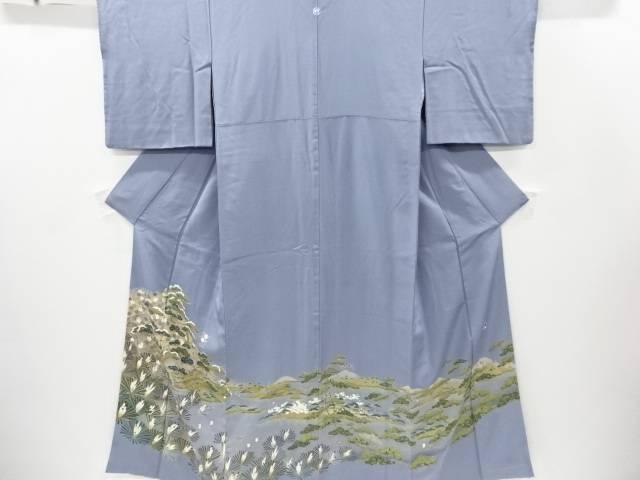 【IDnet】 海辺風景に松楓模様一つ紋色留袖【リサイクル】【中古】【着】