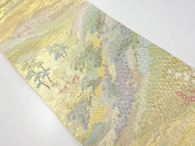 【IDnet】 本金箔遠山風景模様織出袋帯【リサイクル】【中古】【着】