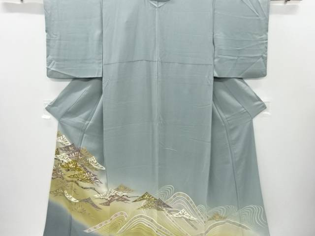 【IDnet】 作家物 金彩若松模様刺繍色留袖【リサイクル】【中古】【着】