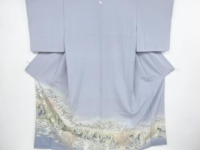 【IDnet】 手描き友禅遠山に樹木風景模様一つ紋色留袖【リサイクル】【中古】【着】
