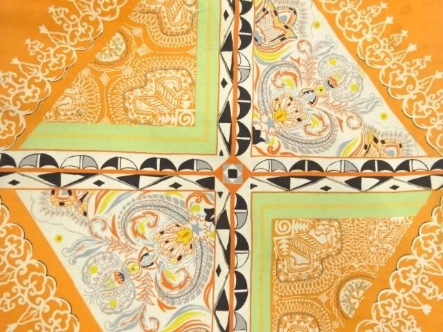 【IDnet】 抽象花模様刺繍名古屋帯【アンティーク】【中古】【着】