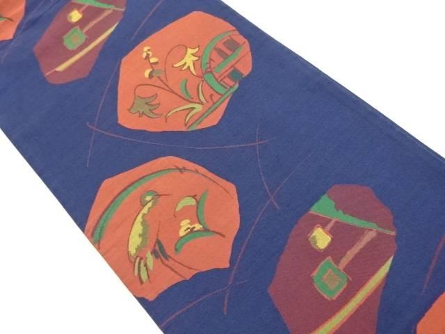【IDnet】 花鳥模様織り出し袋帯【リサイクル】【中古】【着】