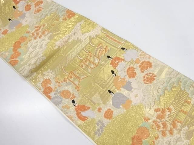 【IDnet】 純金箔24K屋敷に時代人物模様織出し袋帯【リサイクル】【中古】【着】