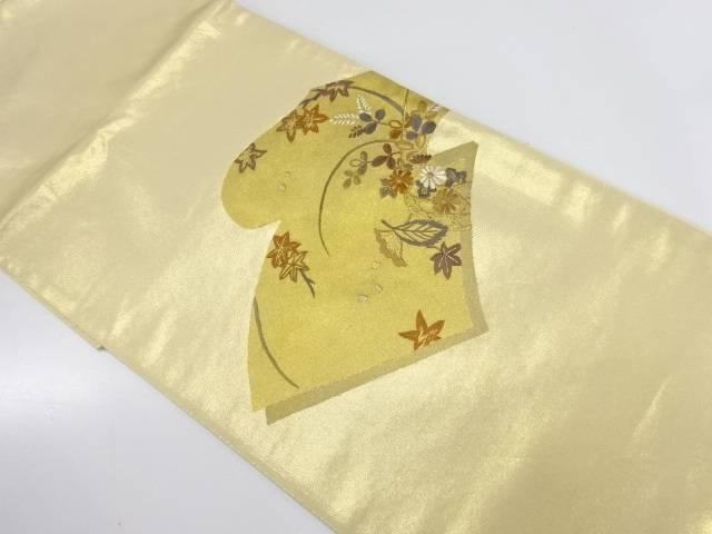 【IDnet】 金彩読本に花籠模様刺繍袋帯【リサイクル】【中古】【着】