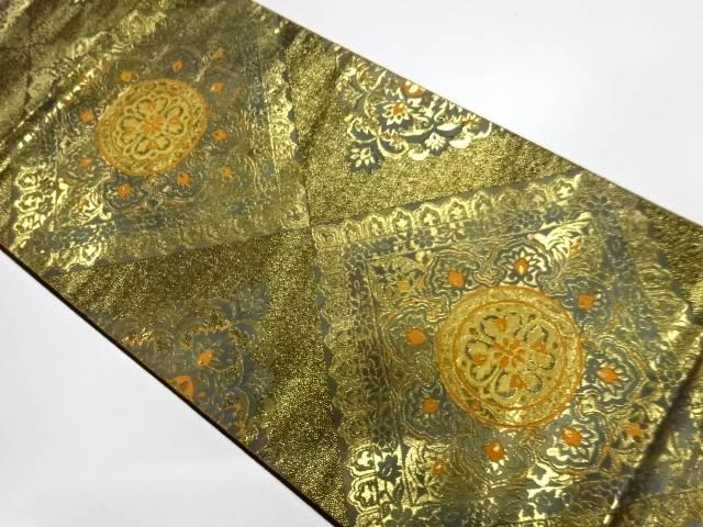 【IDnet】 未使用品 服部織物製 本金箔24Kオリエント更紗織出し袋帯【リサイクル】【着】