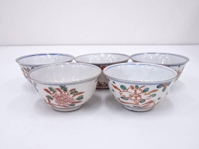 【IDnet】 赤煎茶碗5客【中古】【道】
