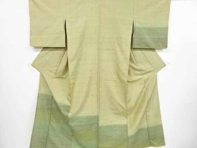 【IDnet】 横段模様織出手織り節紬単衣訪問着【リサイクル】【中古】【着】