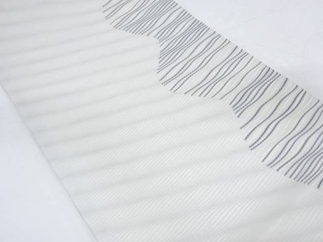 【IDnet】 絽紗抽象模様織出し袋帯【リサイクル】【中古】【着】