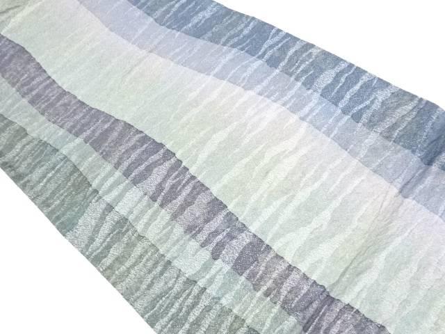 【IDnet】 よろけ縞模様織出し全通袋帯【リサイクル】【中古】【着】
