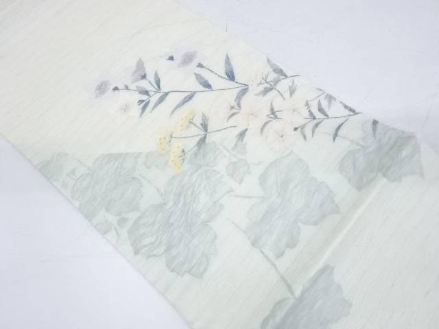 【IDnet】 未使用品 すくい織秋草模様織出し袋帯【リサイクル】【着】