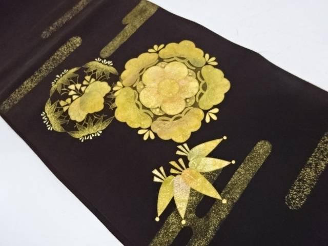【IDnet】 金彩梅笹に桐模様織出し袋帯【リサイクル】【中古】【着】