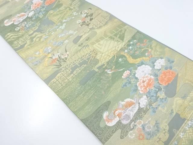 【IDnet】 平安京庭園文織り出し袋帯【リサイクル】【中古】【着】