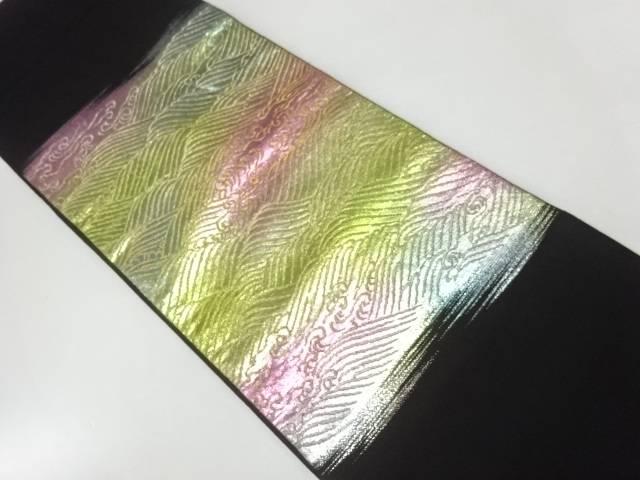 【IDnet】 龍村製 昇陽波浪織出し本袋帯【リサイクル】【中古】【着】