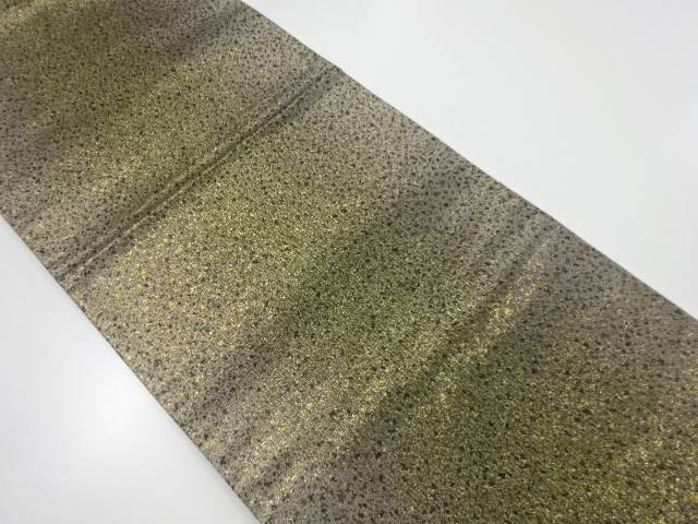 【IDnet】 金糸のり散らし模様織り出し全通袋帯【リサイクル】【中古】【着】