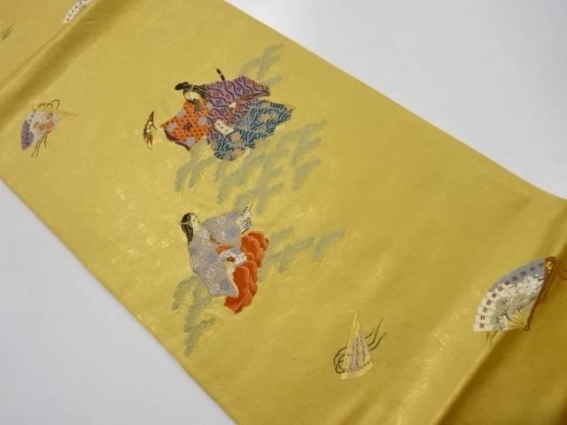 【IDnet】 手織引箔能模様織出し袋帯【リサイクル】【中古】【着】