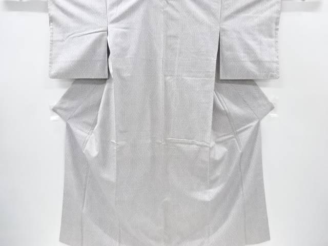 【IDnet】 編み目模様織り出し本場結城紬100亀甲着物(石下)【リサイクル】【中古】【着】