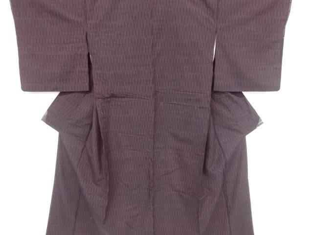 【IDnet】 立涌模様織出し手織り真綿紬着物【リサイクル】【中古】【着】