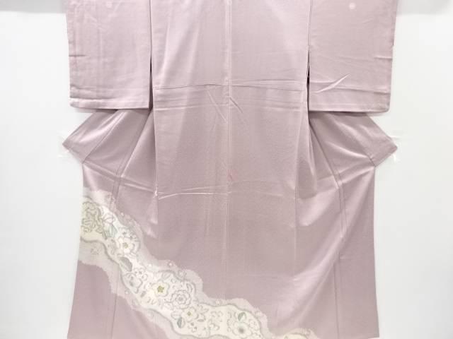 【IDnet】 絞り辻ヶ花模様五つ紋色留袖(比翼付き)【リサイクル】【中古】【着】