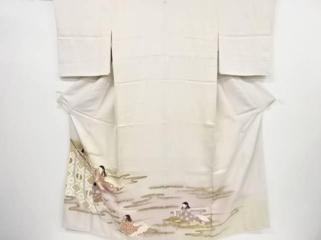 【IDnet】 几帳に十二単模様一つ紋色留袖(比翼付き)【リサイクル】【中古】【着】