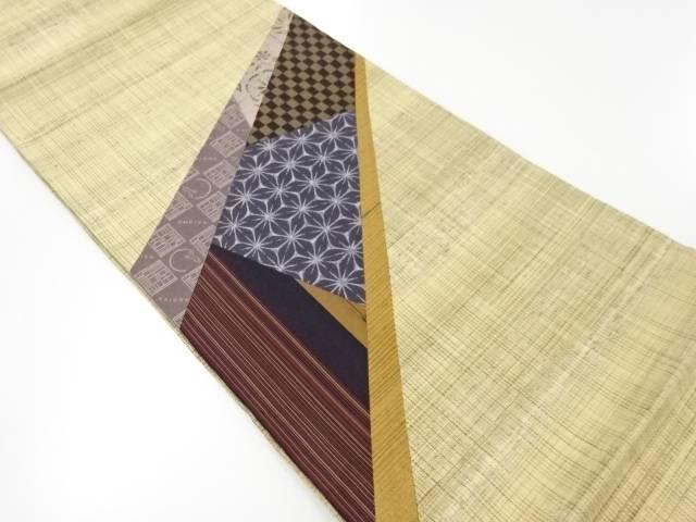 【IDnet】 未使用品 米沢ぜんまい紬切りばめ古典柄織り出し袋帯【リサイクル】【着】