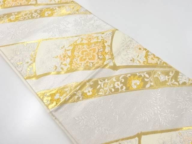 【IDnet】 金銀糸竹に華紋織り出し袋帯【リサイクル】【中古】【着】
