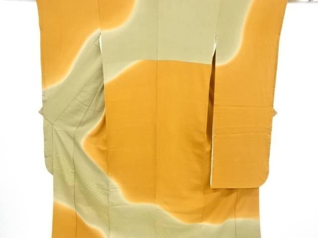 【IDnet】 金通し道長取に古典柄織出振袖・長襦袢・全通袋帯セット【リサイクル】【中古】【着】
