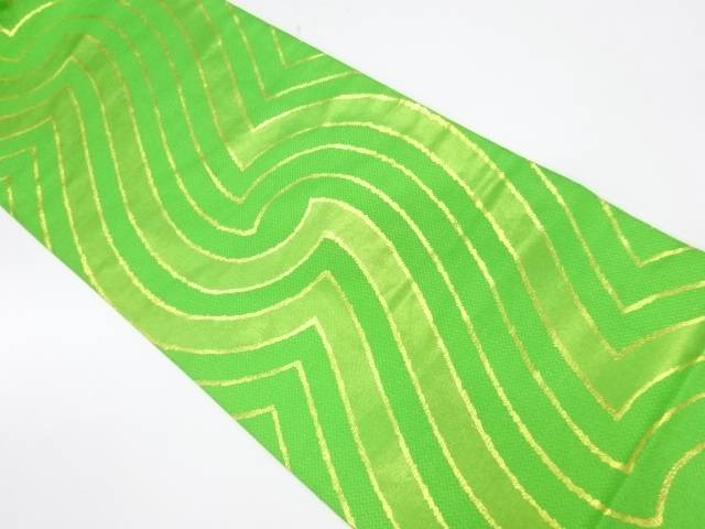 【IDnet】 川島織物製 抽象模様織出し名古屋帯【リサイクル】【中古】【着】