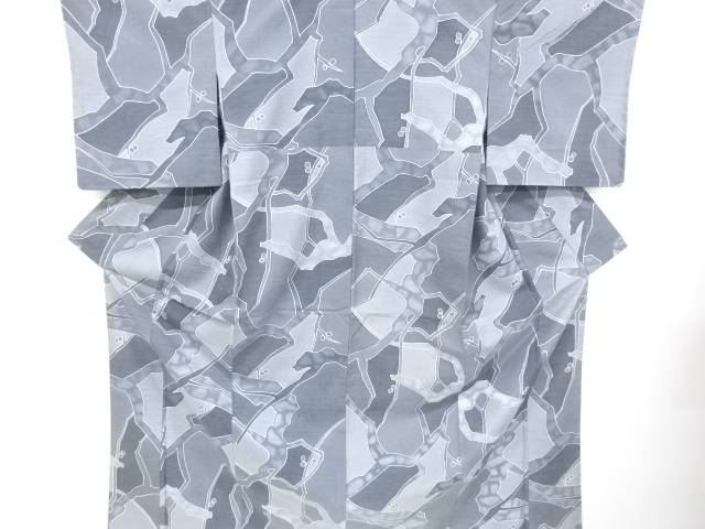【IDnet】 未使用品 枝蕾模様手織り真綿紬着物【リサイクル】【着】