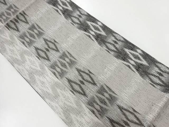 【IDnet】 縞に抽象模様織出し全通洒落袋帯【リサイクル】【中古】【着】