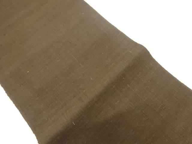 【アイディーネットのリサイクル・アンティーク着物 茶道具】 【IDnet】 未使用品 千切屋手織り真綿紬名古屋帯【リサイクル】【着】