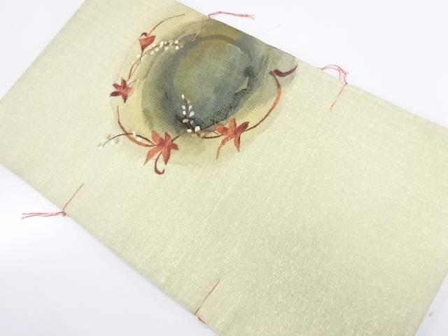 【IDnet】 未使用品 すくい織葉模様織出し袋帯【リサイクル】【着】