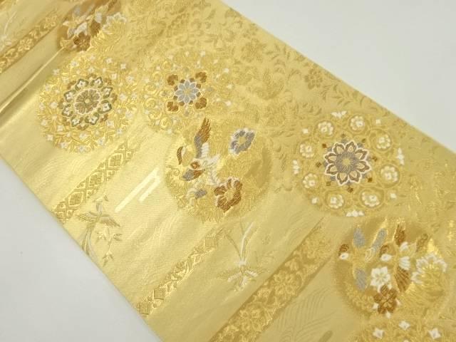 【IDnet】 本金華紋更紗に花鳥模様織り出し袋帯【リサイクル】【中古】【着】