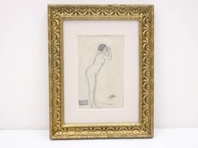 【IDnet】 絵画 裸婦像 デッサン画 額装【中古】【道】