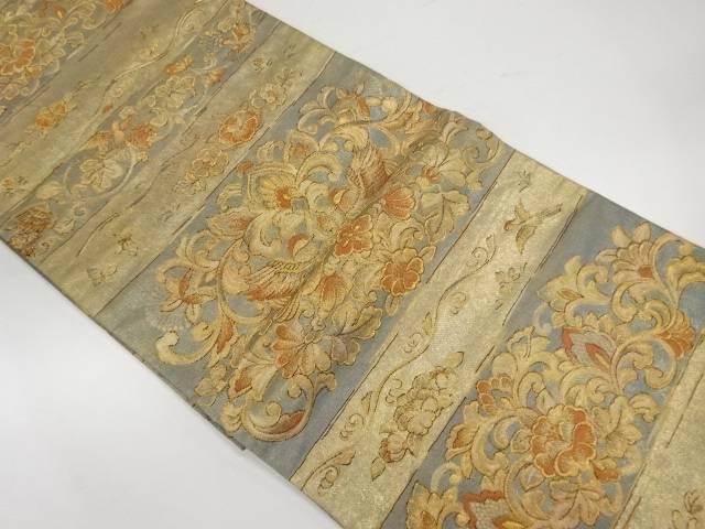 【IDnet】 金唐革織横彫唐花紋織出し袋帯【リサイクル】【中古】【着】