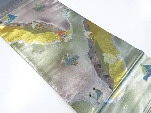 【IDnet】 未使用品 引箔螺鈿能模様織出袋帯【リサイクル】【着】