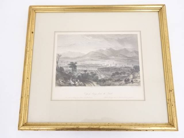 【IDnet】 絵画 トーマス・アロム 「アモイの街の風景」 銅版画 額装【中古】【道】