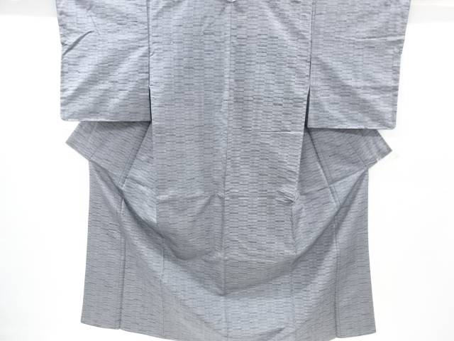 【IDnet】 未使用品 仕立て上がり 変わり市松模様織出手織り真綿紬着物【着】